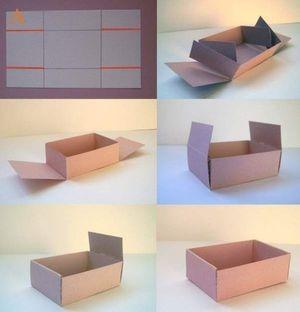 Как сделать бумажную коробочку