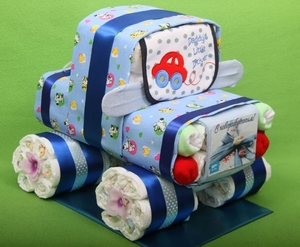 Машинка из памперсов для новорожденного